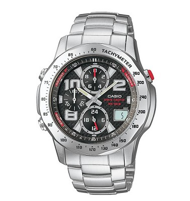 WVQ550DA-1AV - Silver Wave Ceptor Atomic Chronograph Watch