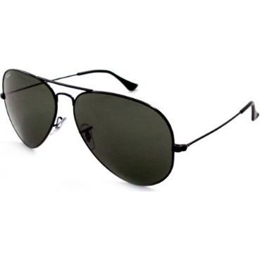 Aviator Large Metal Sunglasses Black 62mm