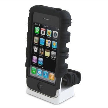Products Tough Skin Case for iPhone 3G, 3G S (Black)