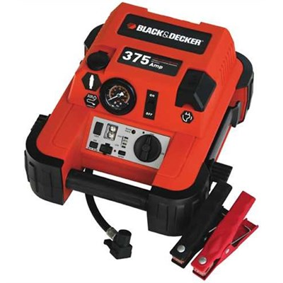 Black & Decker 375 Amp Jump Starter with Compressor (JUS375IB)