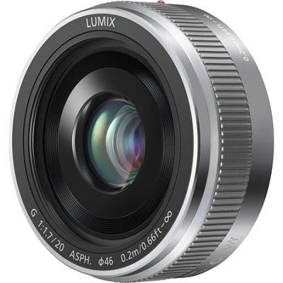 LUMIX H-H020AS G 20mm / F1.7 II ASPH. Silver Lens