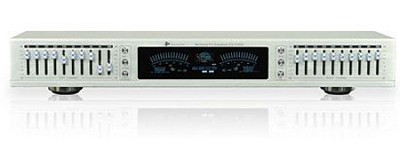 EQ-S5150 Dual 10 Band Graphic Equalizer with individual LED indicators (Silver)