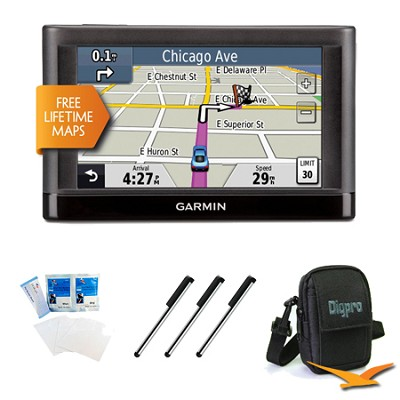 nuvi 44LM US and Canada 4.3` GPS with Lifetime Map Updates Essentials Bundle