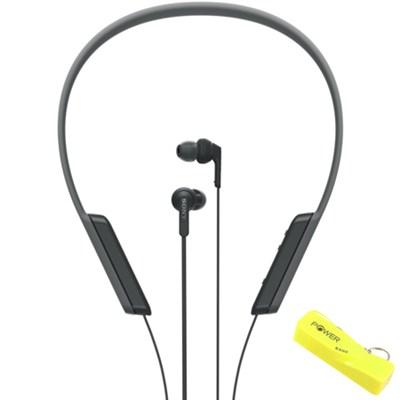 Bluetooth Wireless, In-Ear Headphones w/ NFC (Black) with Bonus Power Bank