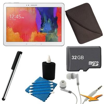 32GB Galaxy Tab Pro 10.1` Tablet - White Ultimate Bundle