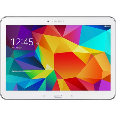 Galaxy Tab 4 White 16GB 10.1` Tablet - 1.2 GHz Quad Core, Android 4.4, Kit Kat