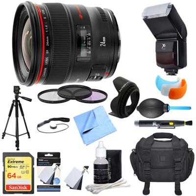 EF 24mm f/1.4L II USM Lens Ultimate Accessory Bundle