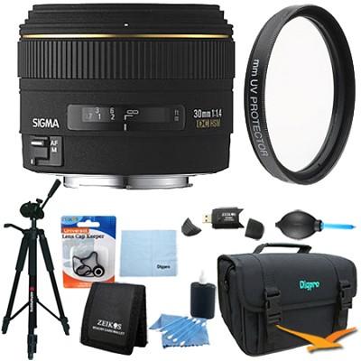 30mm f/1.4 EX DC HSM Autofocus Lens for Nikon DSLR Cameras - Lens Kit Bundle