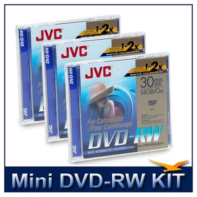 6-Pack of Mini DVD-RW Rewriteable 1.4GB Discs for Sony DVD Camcorders, 3 2-packs