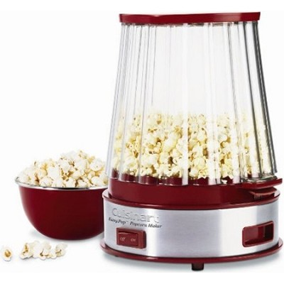 EasyPop Popcorn Maker - Stainless Steel and Red