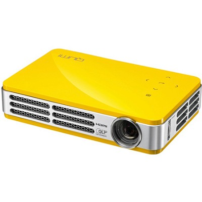 Qumi Q5 500 Lumen WXGA HD 720p HDMI 3D-Ready Pocket DLP Projector (YELLOW)
