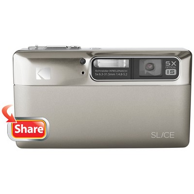 Slice 14MP 3.5` LCD Touchscreen Digital Camera (Nickel)