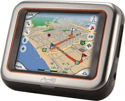 C220 Portable Car GPS Navigation System w/ 3.5` Touch LCD + Speed Trap Warnings