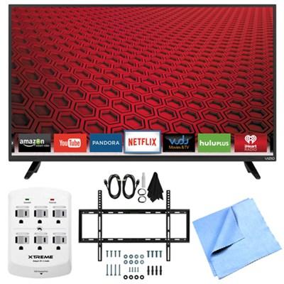 E48-C2 - 48-Inch E-Series 120Hz 1080p Smart LED HDTV Plus Mount & Hook-Up Bundle
