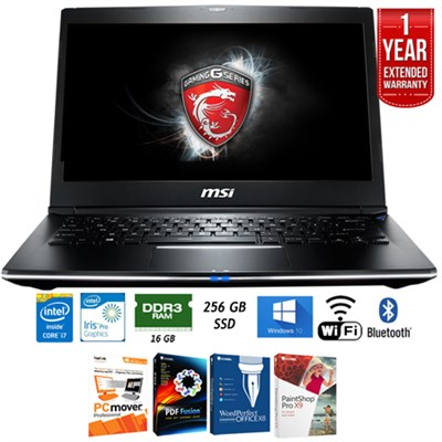 GS30 SHADOW-001 13.3` Intel Core i7 Gaming Laptop + Extended Warranty Pack