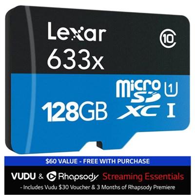 128GB Class 10 633x microSDXC (up to 95MB/s) Memory Card (Bulk) + $30 to Vudu