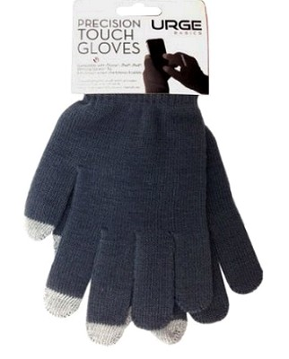 Precision Touchscreen Gloves for Tablets and Touchscreen Phones (Gray)