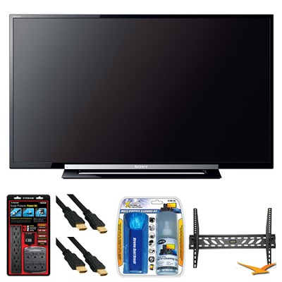 KDL-40R450A 40` 120Hz 1080p Black LED HDTV Wall Mount Bundle