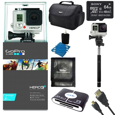 Camera HD HERO3+: Silver Edition Adventure Kit