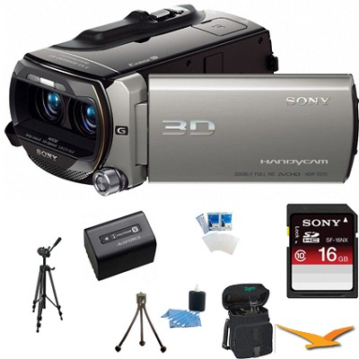 HDR-TD10 High Definition 3D Handycam Camcorder ULTIMATE BUNDLE