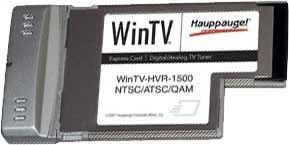 WinTV HVR-1500 Notebook Express Card HDTV Tuner/Video Recorder Media Center 1193