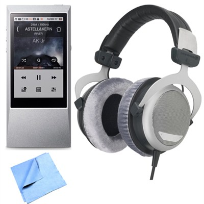 AK Jr. Hi-Res 64GB Music Player with Beyerdynamic DT880 Premium 32 OHM Headphone