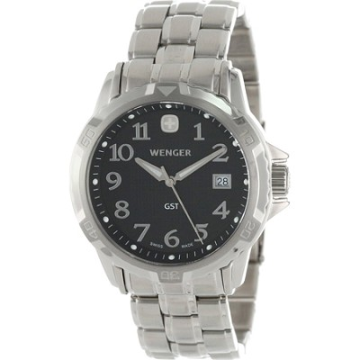 Men's GST Swiss Watch - Black Dial/Stainless Steel Bracelet