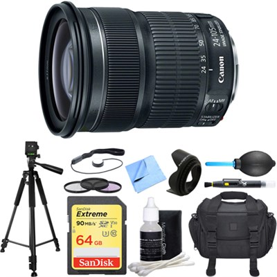 EF 24-105mm f/3.5-5.6 IS STM Camera Lens Deluxe Accessory Bundle