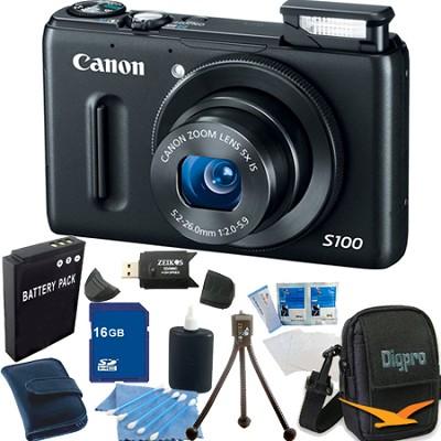 PowerShot S100 Black Digital Camera 16GB Bundle