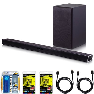 SH4 2.1ch 300W Sound Bar with Wireless Subwoofer + Bluetooth Connectivity Bundle