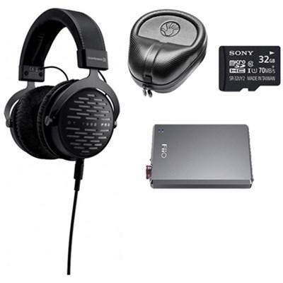 DT 1990 PRO 250 Ohm Open Studio Headphones with Case & Accessories Bundle