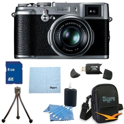 8 GB Bundle X100 12.3 MP APS-C CMOS EXR Digital Camera with 23mm Fujinon Lens