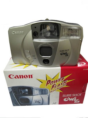 Sure Shot Owl PF Date 35mm Film Camera