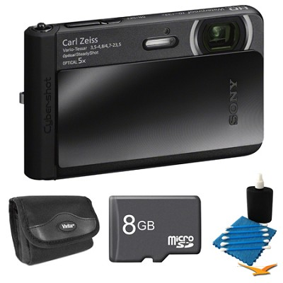 DSC-TX30/B Black Digital Camera 8GB Bundle