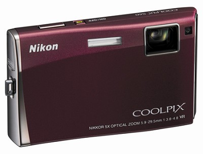 Coolpix S60 Digital Camera (Burgundy)