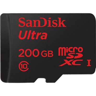 Ultra microSDXC 200GB UHS-I Memory Card, Up to 90MB/s Read Speed w/ SD Adapter