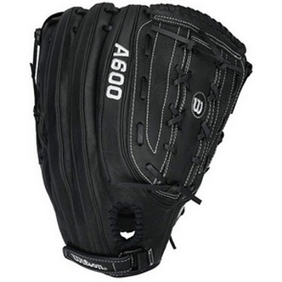 A600 Slowpitch Glove, 14` - Left Handed Throw - Black