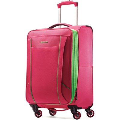 Skylite 20` Raspberry / Lime Spinner Luggage