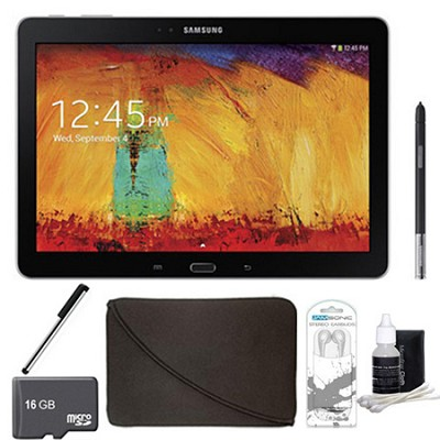 Galaxy Note 10.1 - 2014 Edition (16GB, WiFi, Black) 16GB Accessory Bundle