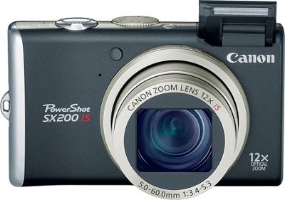 PowerShot SX200 12MP 12x Zoom Digital Camera (Black) -