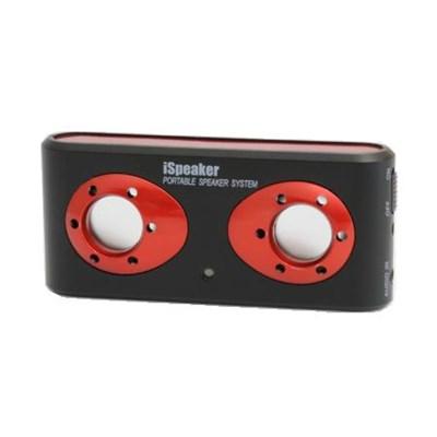 i308b iSpeaker Portable Stereo Speaker w/Li-Ion Battery Blk/Red - OPEN BOX
