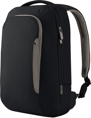 Belkin F8N078-KSG-DL 17 Inch Energy Collection Slim Backpack in Pitch Black/Gray