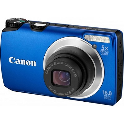 PowerShot A3300 IS 16MP Blue Digital Camera w/ 720p HD Video
