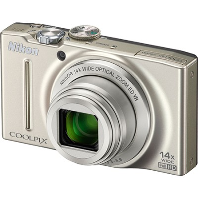 COOLPIX S8200 Silver 14x Zoom 16MP Digital Camera - OPEN BOX