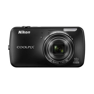 COOLPIX S800c 16MP 3.5 inch LED Digital Camera - Black
