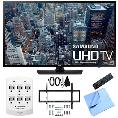 UN48JU6400 - 48-Inch 4K Ultra HD Smart LED HDTV Slim Flat Wall Mount Bundle