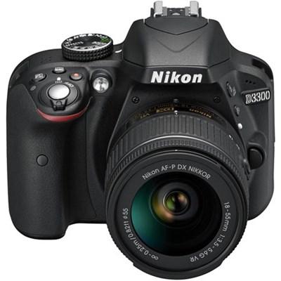 D3300 DSLR 24.2 MP HD 1080p Camera with 18-55mm AF-P VR Zoom Lens - Black