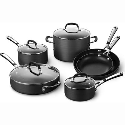 Simply Nonstick 10 Piece Cookware Set - SA10H - OPEN BOX