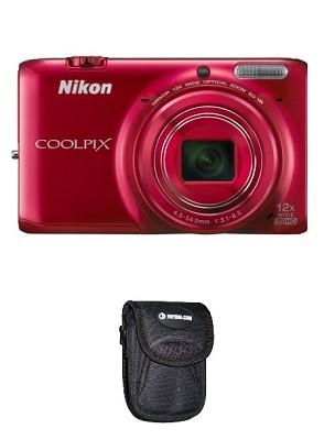 S6500 16 MP Digital Camera w/ 12x Zoom & Built-In Wi-Fi (Red) Kit