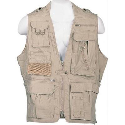 Safari Vest Khaki Size XXXL